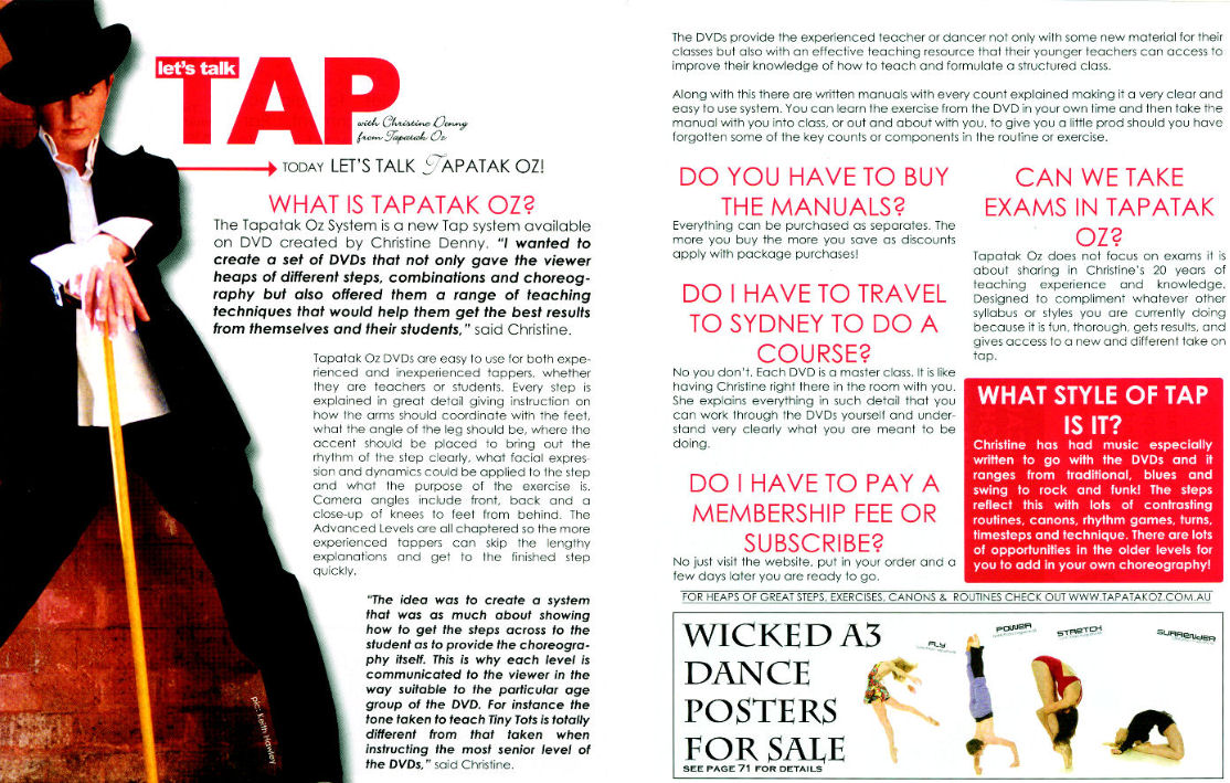 Christine is heavily involved in the tap dancing industry | Tapatak Oz